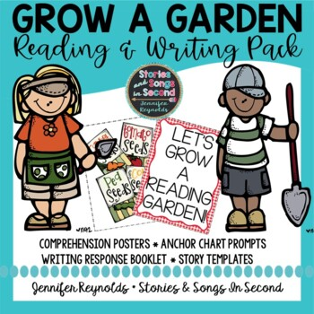 Grow A Garden Reading Comprehension Posters and Spring Wri