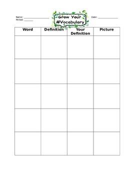Grow Your Vocabulary