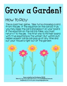 Grow a Garden - Equal Equations