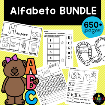 Growing Alphabet Bundle in Spanish (Alfabeto / Abecedario)
