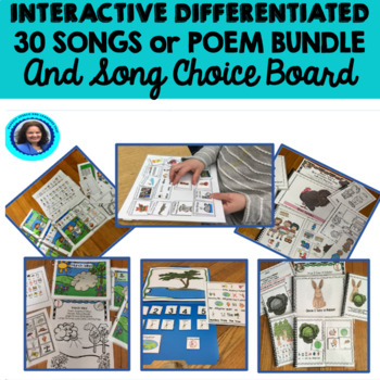 Growing Bundle: Circle Time Songs, Choice Board, Actvities
