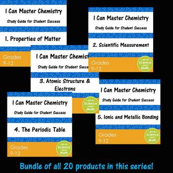 Growing Bundle - I Can Master Chemistry - High School Science