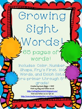Growing Sight Words Pack