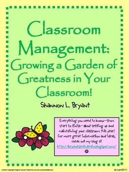 Back to School Classroom Management (Garden Theme)