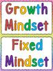 Growth & Fixed Mindset Sort & Poster Set