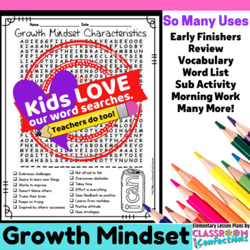 Growth Mindset Activity: Growth Mindset Word Search: Growt