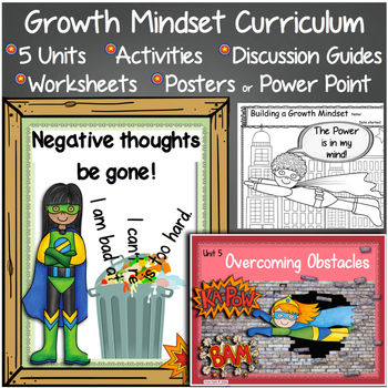 Growth Mindset Curriculum: Discussion Guide, PowerPoint /P