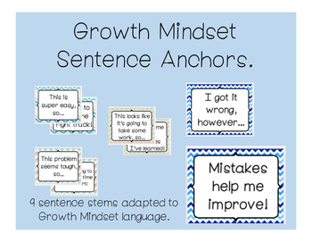 Growth Mindset Anchor Phrases