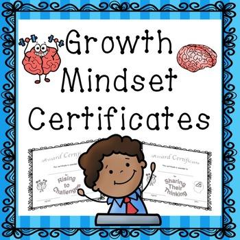 Growth Mindset Award Certificates
