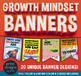 Growth Mindset BUNDLE - Posters/Banners/Activities/Teacher