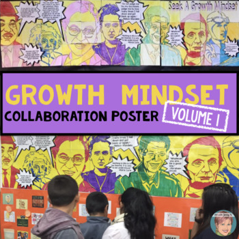 Growth Mindset Poster Featuring Martin Luther King Jr., Rosa Parks and others