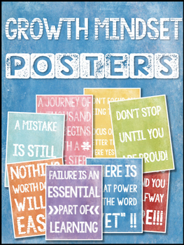 Growth Mindset Colorful Posters
