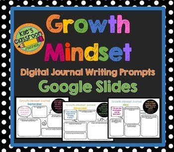 Growth Mindset Digital Journal Prompts - Google Slides