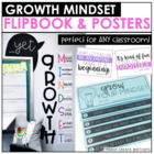 Growth Mindset Flipbook & Posters