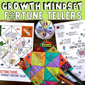 Growth Mindset Game: 4 Fortune Teller Activities for Class