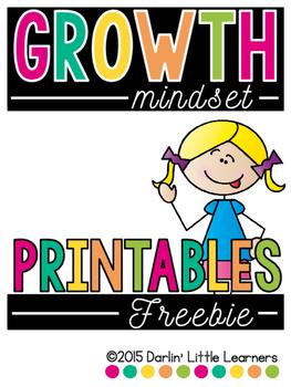 Growth Mindset:  Freebie