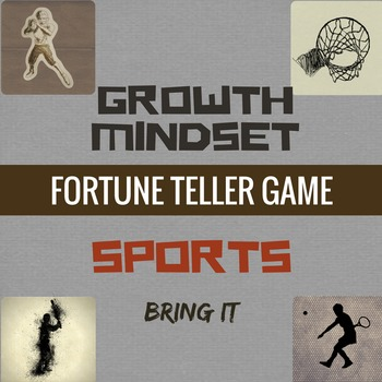 Growth Mindset Game Fortune Teller Activity for Classroom