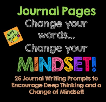 Growth Mindset Journal Writing Prompts