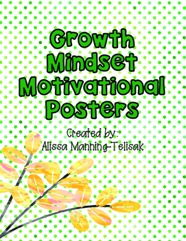 Growth Mindset/Motivational Posters