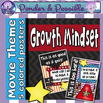 Growth Mindset Motivational Posters - Movie Theme