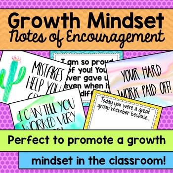 Growth Mindset Notes of Encouragement