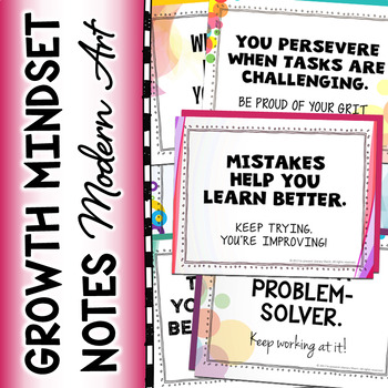 Growth Mindset   Growth Mindset Notes of Encouragement   G