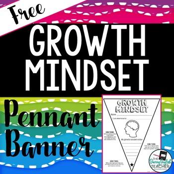 Growth Mindset Pennant Banner