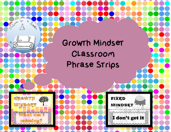 Growth Mindset Phrase Strips
