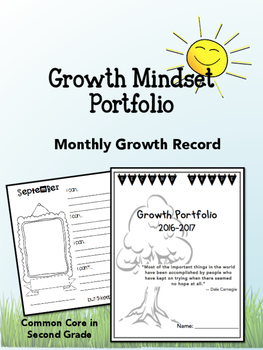 Growth Mindset Portfolio- Self-Portraits, Reading Growth!