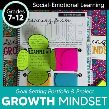 Growth Mindset Portfolio for Teens: Interactive Notebook &