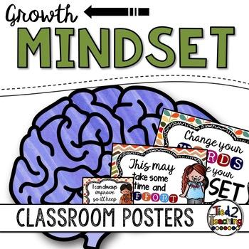 Growth Mindset Posters PLUS BONUS Growth Mindset Quote Cards