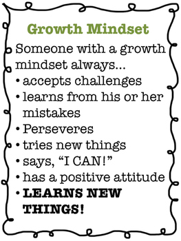 Growth Mindset Poster and Handout