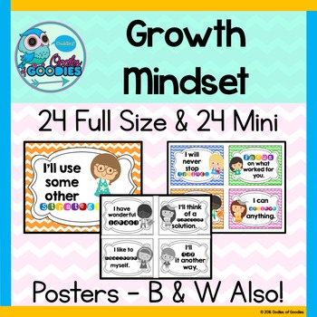 Growth Mindset Posters - (24 Full Size / 24 Mini)
