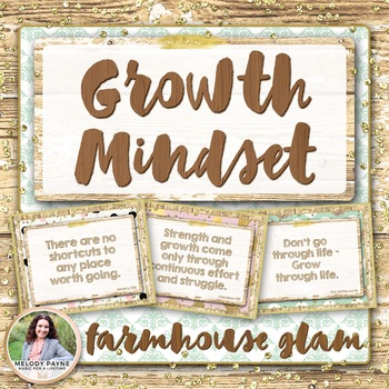 Growth Mindset Posters {36 Rustic Glam Signs}