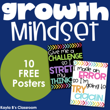 Growth Mindset Posters - Black Background
