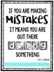 Growth Mindset Posters (Bright & White Design)