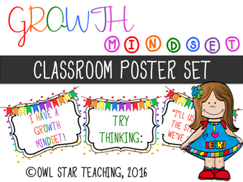 Growth Mindset Posters- Change Your Thinking