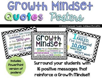 Growth Mindset Posters: Inspirational Quotes
