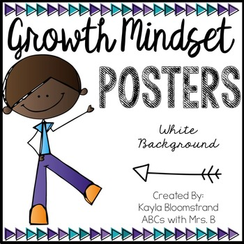 Growth Mindset Posters - White Background