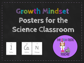 Growth Mindset Posters for the Science Classroom