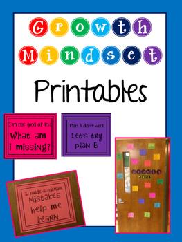 Growth Mindset Printables