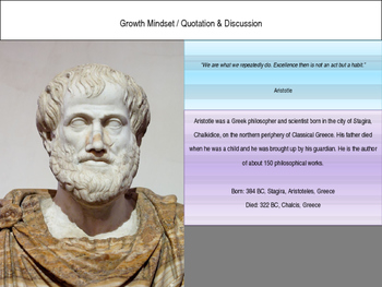 Growth Mindset Quotation and Related Activity