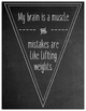 Growth Mindset Quotes Pennant Banner - Chalkboard Theme