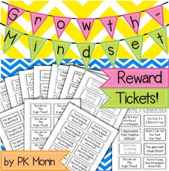 Growth Mindset Reward Tickets!