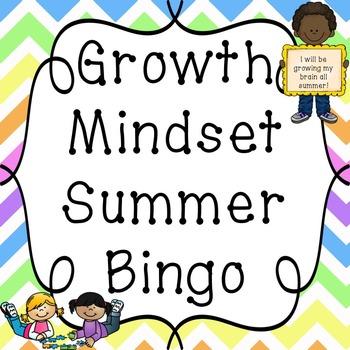 Growth Mindset Summer Bingo Packet