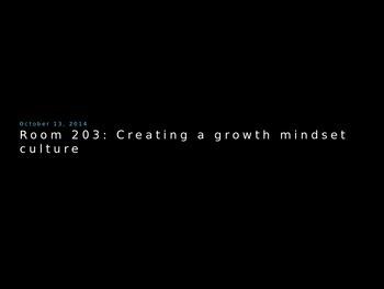 Growth Mindset Teacher Professional Development