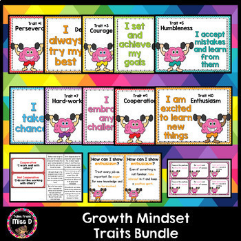 Growth Mindset Traits Bundle