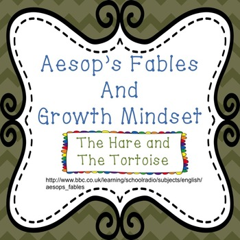 Growth Mindset with Aesop's Fables - The Tortoise and The Hare