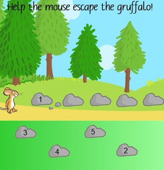 Gruffalo number sequencing
