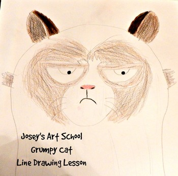 Grumpy Cat Drawing Lesson: How to Draw Grumpy Cat Easy Pre